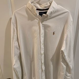 Barely Worn White Ralph Lauren Button-Down!!